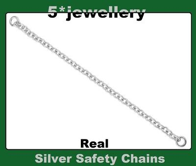 new real sterling silver 925 safety chains bracelet bangle broach necklace watch