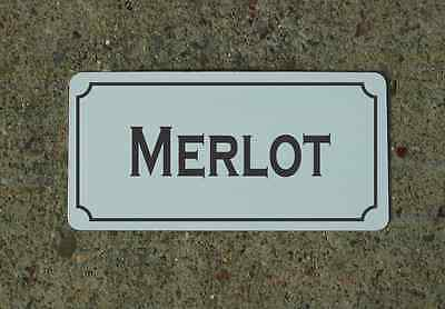 MERLOT Metal Sign Vintage Style for Wine Cellar Cave or Collection or Kitchen