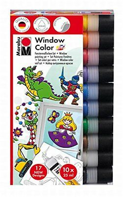 "Marabu Window Color ""fun & fancy"", 25 ml, 10er-Set Fensterfarben in Tube"