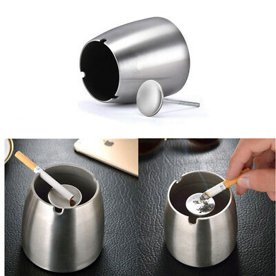 Stand Smoking Cigar Indoor Round Ash Cigarette Holder Stainless Steel Ashtray