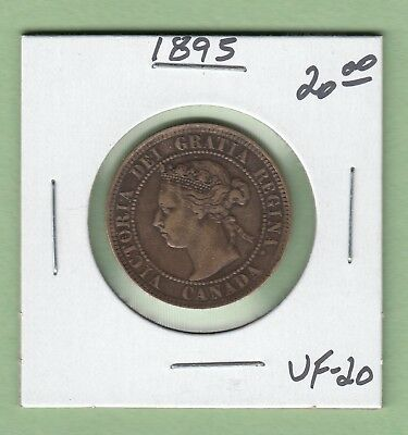 1895 Canadian Large One Cent Coin - VF-20
