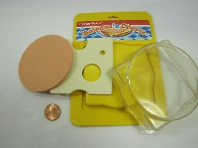 Vintage Fisher Price Fun with Food BOLOGNA 'N CHEESE PACKAGE 1 slide each Rare!