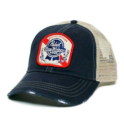 Pabst Blue Ribbon Trucker Hat Blue