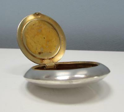 Antique Unger Brothers Sterling Silver Snuff / Pill Box Circa 1900
