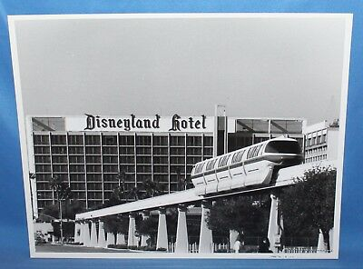 "Rare Vintage Disneyland Hotel And Monorail Publicity Photo 8"" X 10"""