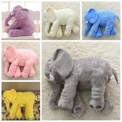 Soft Elephant Doll Kids Baby Plush Toy Stuffed Animal Lumbar Pillow Gift 40-60cm
