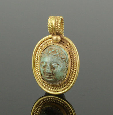 Beautiful Ancient Roman Gold Cameo Pendant 2Nd Century Ad