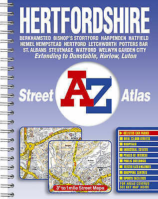 Hertfordshire Street Atlas, Geographers' A-Z Map Company | Paperback Book | Acce