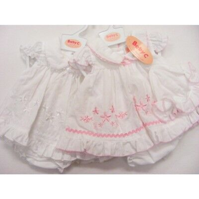 Baby Girls White Pink Premature Reborn Dress Pants Knickers Hat 3-5lbs 5-8lbs