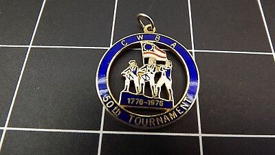 Vintage Women's Bowling Association C.W.B.A. 50TH Tournament 1976 Enamel Pendant