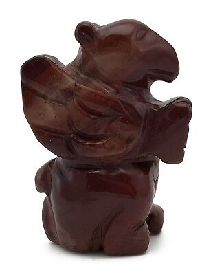 Griffin Red Jasper Hand Carved Gemstone Animal Totem Statue Stone Sculpture