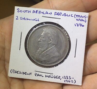 1896 South African Republic (Transvaal) 2 Shillings Silver
