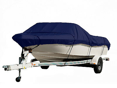 Boat Cover, Heavy Duty, Trailerable 12-14', Navy Blue, Free Storage Bag