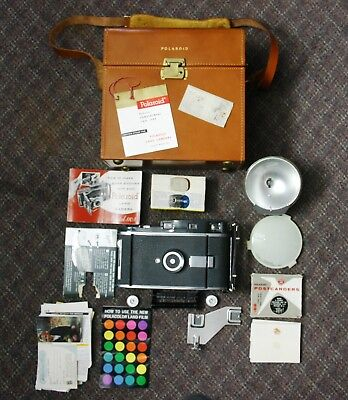 Vintage Polaroid Pathfinder Camera Model 110A with Many Extras, Pristine Conditi