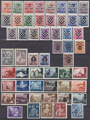 Croatia - Nazi Germany Occupation Complete Collection 1941-1945 - *mlh*/**mnh**