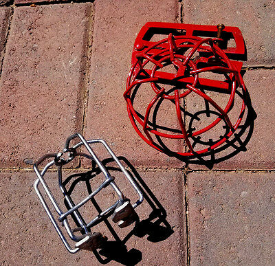 Fire Sprinkler Head Guard Lot:  Red and Chrome