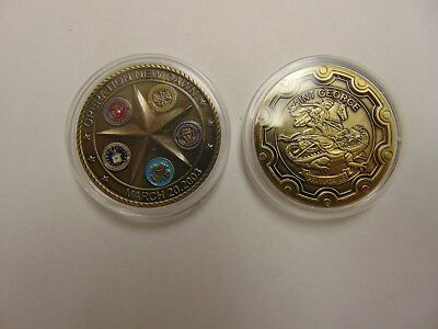 Challenge Coin Free Capsule Shipping Operation New Dawn Saint George Pray For Us