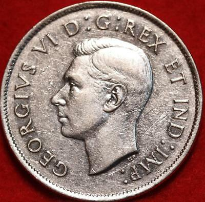 Uncirculated 1944 Canada 50 Cents Silver Foreign Coin Free S/H