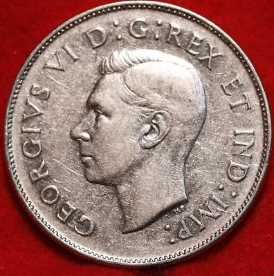 Uncirculated 1946 Canada 50 Cents Silver Foreign Coin Free S/H