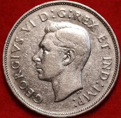 Uncirculated 1939 Canada 50 Cents Silver Foreign Coin Free S/H