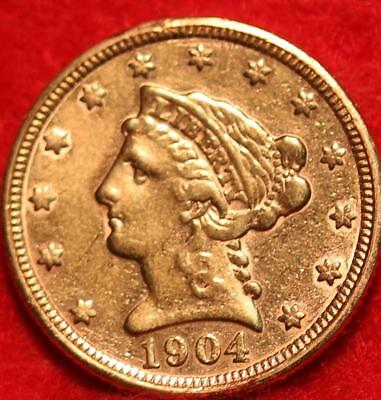 1904 Philadelphia Mint Gold $2.50 Coin Free Shipping