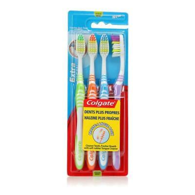 COLGATE Extra Clean Brosse a Dents - Medium - x4