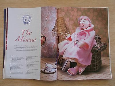ADB&C Vol 8 #3~Doll & Bear Patterns~The Missus~Knitted Outfit~Irish~Embroidery..