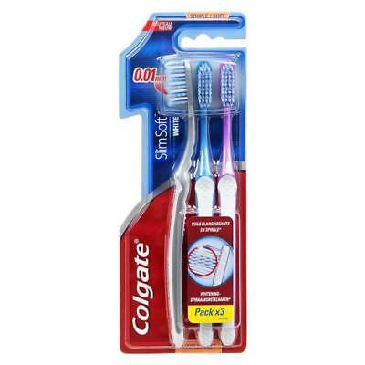 COLGATE Bad SlimSoft - Brosse a dent - Lot de 3