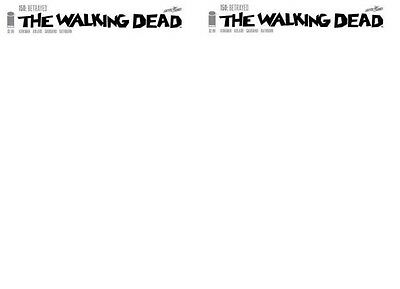 Walking Dead 150 B Blank convention variant authentix sketch 1st printing x2