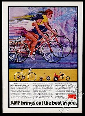 1973 AMF Hot Seat 3-wheel bike kids' Sling Roadmaster Pacemaker vintage print ad