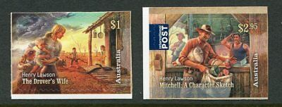 2017 Henry Lawson 1867-1922 - MUH Set of 2 Booklet Stamps
