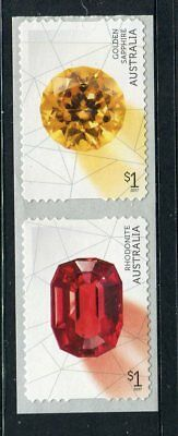 2017 Rare Beauties! Extraordinary Gemstones - Strip of 2 P&S Stamps