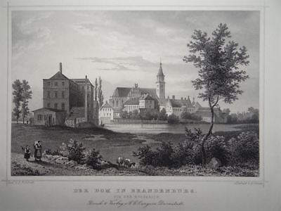 Dom Sankt Peter & Paul Brandenburg a.d. Havel Architektur Fesca Stahlstich 1850