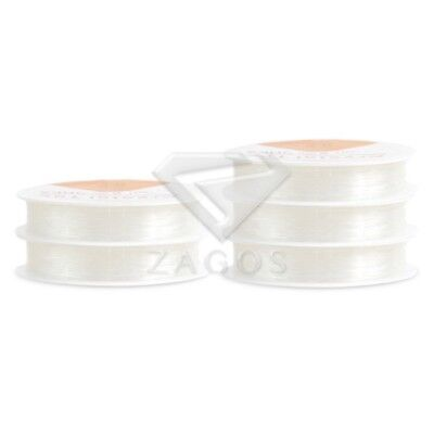 1 Roll Elastic Beading Wire Cord Thread DIY Supply Jewelry Making 1mm White