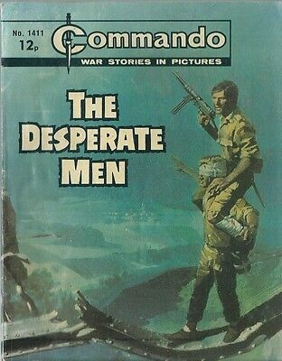 The Desperate Men,commando War Stories In Pictures,no.1411,war Comic,1980