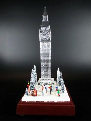 London Big Ben 24 cm, glasoptik, with Sound and Light, Deluxe Version, NEW