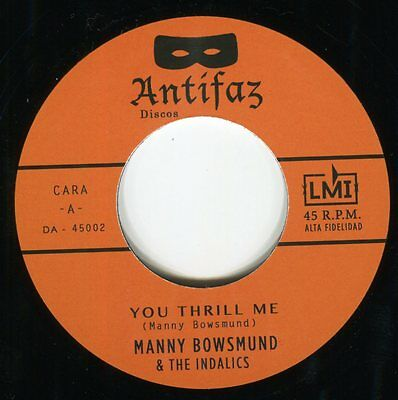 Manny BOWSMUND you thrill me 45 monster R&B rocker NORTHERN SOUL boogaloo HEAR ♬