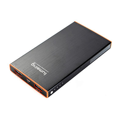 Lumsing 6000mAh Dual USB 2.1A & 1A Power Bank Portable Battery Charger Black