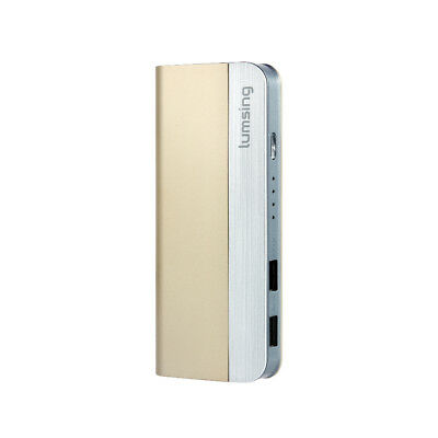Lumsing 10400mAh 2-Ports USB Power Bank Portable External Battery for Phone Gold