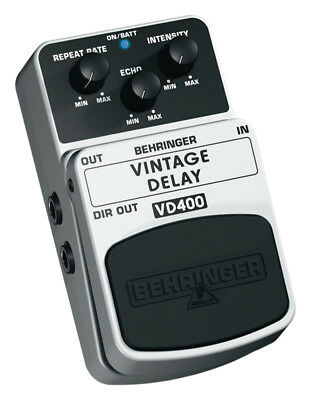 Behringer Vintage Delay VD400 Vintage Analogue Delay Effects Pedal