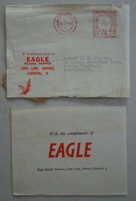 Eagle comic Envelope and Compliments slip from 1955 Scarce (phil-comics)