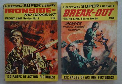 Fleetway Super Library comic #2 and #14 (1970s) FR/GD, VG (phil-comics)