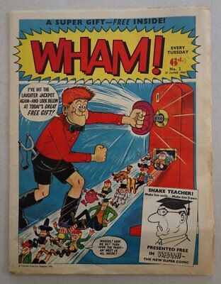 Wham comic #2 - 27 Jun 1964 GREAT COVER Baxendale VG- (phil-comics)