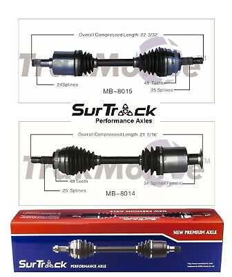 Mercedes E320 4Matic AWD 1998-1999 Pair of Front CV Axle Shafts SurTrack Set