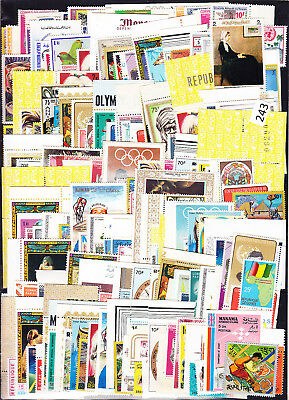 / 200 Stamps - Mnh - Animals - Art - Painting - Sport - People - Birds