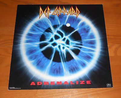 Def Leppard Adrenalize Poster 2-Sided Flat Square 1992 Promo 12x12