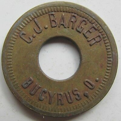 Bucyrus Ohio C.J. BARGER Trade Token Good for 5c