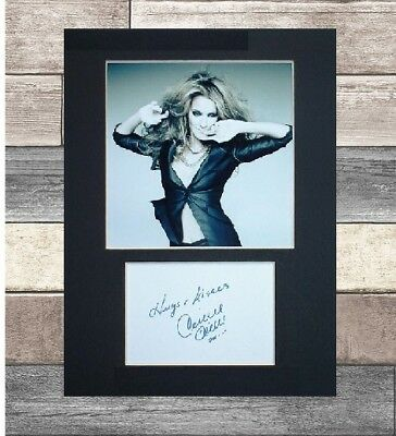 Celine Dion signed printed autograph 8x6 mounted print display # xmas gift #1