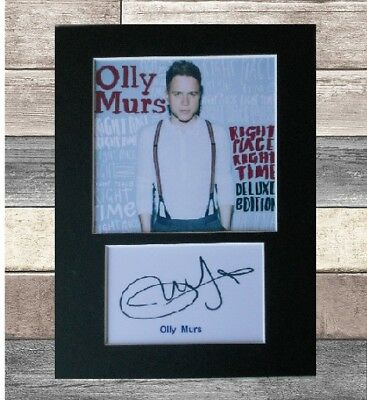 Olly Murs signed printed autograph 8x6 inch mounted print display # xmas gift