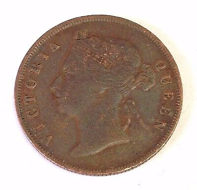 1897 Straits Settlements One Cent, British Empire coin, KM#16, Very Fine